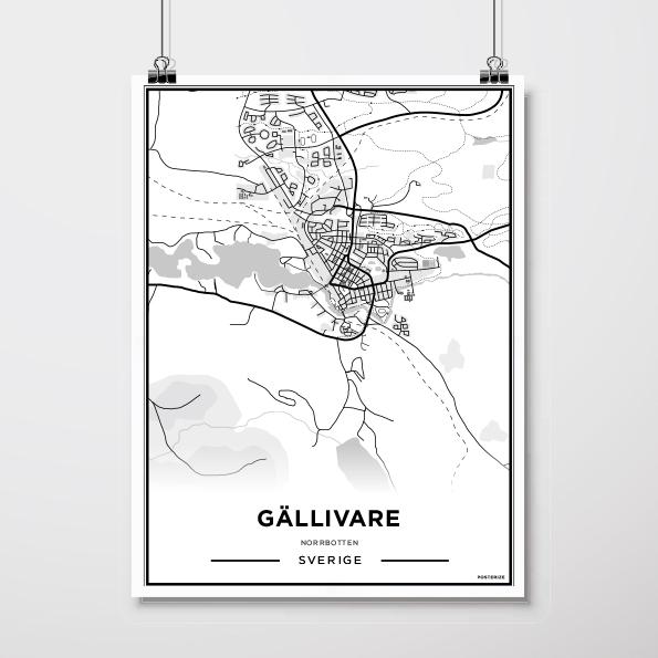 Karta Gallivare 50 70 Cm Vit By Berndes