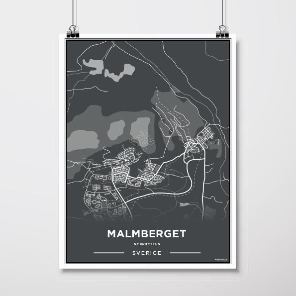 Karta Malmberget 30 40 Cm Svart By Berndes