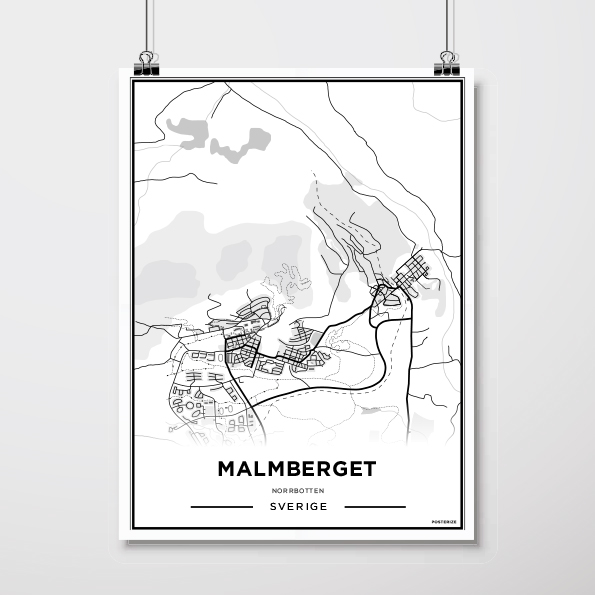 Karta Malmberget 30 40 Cm Vit By Berndes